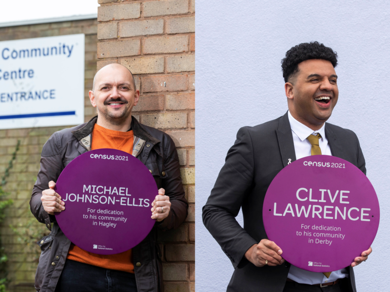Micheal Johnson-Ellis and Clive Lawrence Purple Plaque Winners